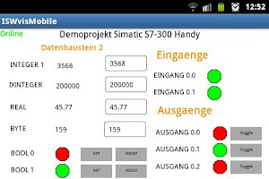 Screenshot of ISWvis Mobile Demo