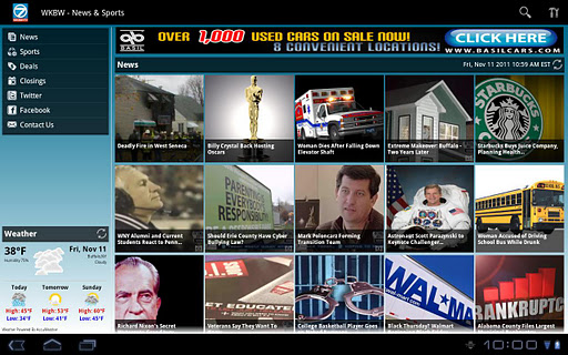 WKBW Eyewitness News Tablet