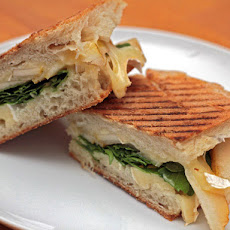 Pear, Arugula, and Brie Panini