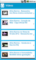Screenshot of Aline Barros - Canto Gospel