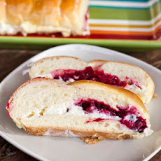 Cranberry and Cream Cheese Filling Bread