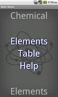 Screenshot of Chemical Elements Free