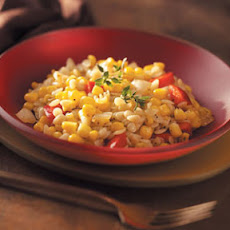 Corn & Pepper Orzo Recipe