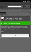 Screenshot of McAfee Dialer Protection