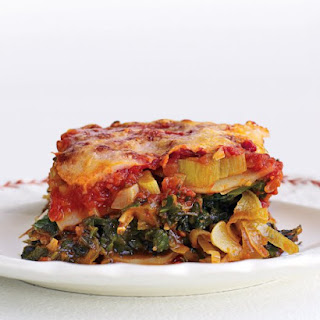 Light Spinach and Leek Lasagna