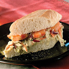 Shrimp Po' Boys With Remoulade Slaw