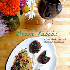 A Match Made in Heaven — Bison Kebabs with Roasted Cherry and Hazelnut Couscous