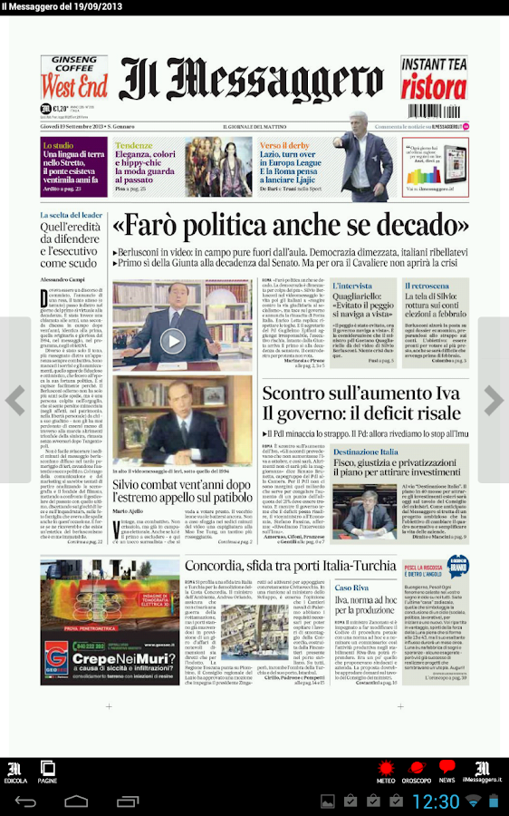 Il Messaggero Digital Screenshot 2