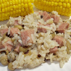 Samantha's Spam-Tastic Black-Eyed Peas and Rice