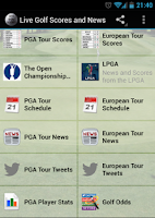 Screenshot of Live Golf Scores and News
