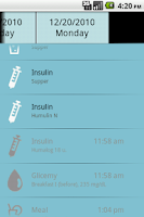 Screenshot of dbees.com Diabetes Management