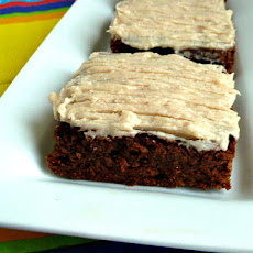 Mexican Fudge Brownies with Cinnamon Butter Cream Frosting Adapted from Better Homes and Gardens