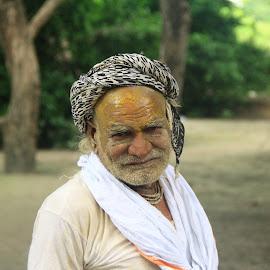 Saint of India by Sonika Sharma - People Portraits of Men ( men, saint, daylight, portrait, street photography,  )