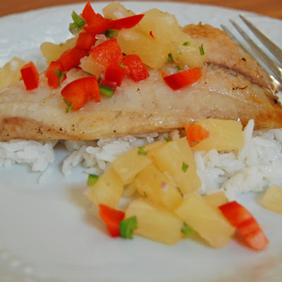 Tropical Tilapia with Pineapple Salsa and Coconut Rice – Easy & Special!