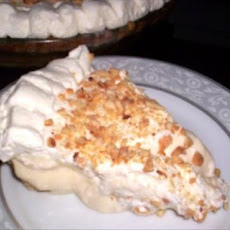 Banana Cream Pie in Almond Crust