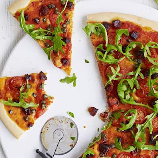 Chorizo, Caper & Rocket Pizza