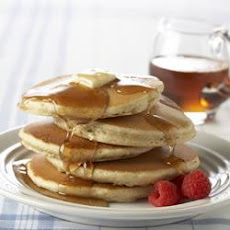 Pecan Pancakes with Spiced Syrup