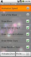 Screenshot of Magic Universe Live Wallpaper