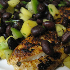 Spiced Tilapia With Mango Black Bean Salsa