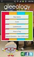 Screenshot of gleeology - glee gleek trivia