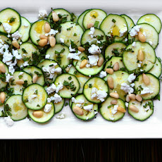 Zucchini Carpaccio with Feta and Pine Nuts Recipe