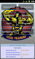 Screenshot of Steel Training