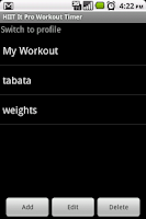 Screenshot of HIIT It Pro Workout Timer