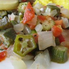 Okra and Tomatoes With Grains of Paradise