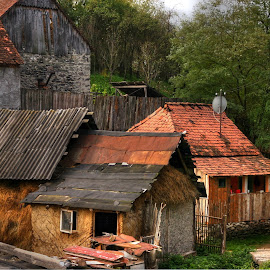Romanian village huts by Horia Morariu - Buildings & Architecture Homes ( village, huts, buildings,  )