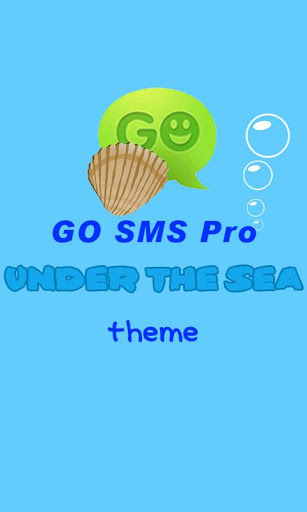 GO SMS Pro Under The Sea theme
