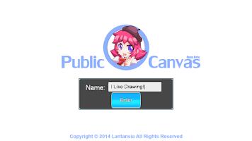 Screenshot of Public Canvas