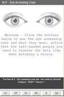 Screenshot of Eye Accessing Cues - NLP Tool
