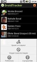 Screenshot of DroidTracker