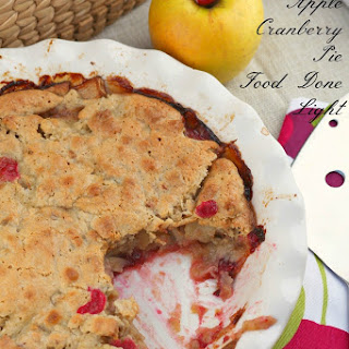 Swedish Apple Cranberry Pie