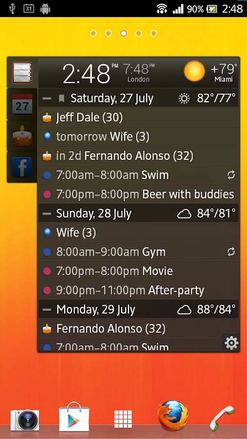 All-in-One Agenda widget Screenshot 4
