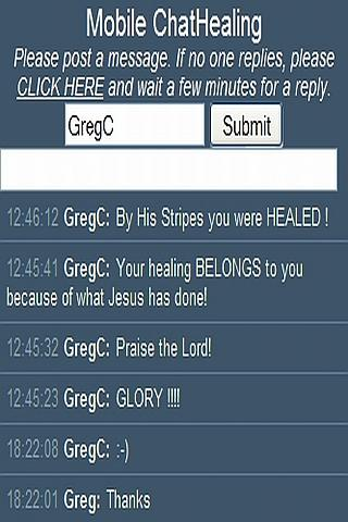 Chat Healing in Jesus' Name