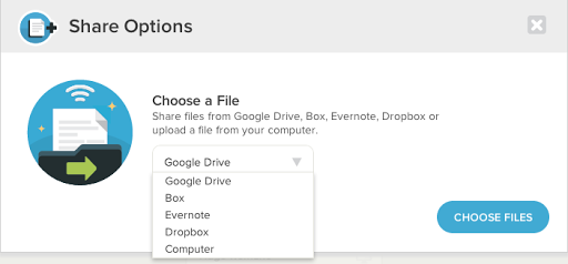 Uberconference share files from google drive dropbox for Sharing documents in box