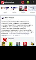 Screenshot of Radio Malaysia Kelantan FM