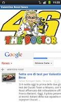 Screenshot of Valentino Rossi News