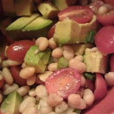 White Bean, Tomato, and Avocado Salad