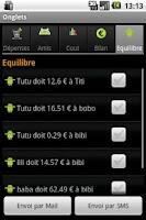 Screenshot of Comptes Amis