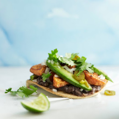 Spicy Sweet Potato and Black Bean Tostadas