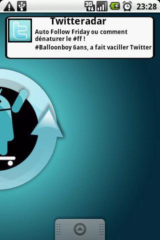 Widget du site TwitteRadar