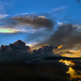 by Slavko Marcac - Landscapes Cloud Formations ( sunset )
