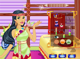Screenshot of Native Princess Makeover