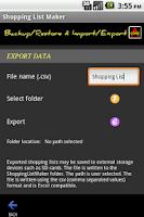 Screenshot of Shopping List Maker