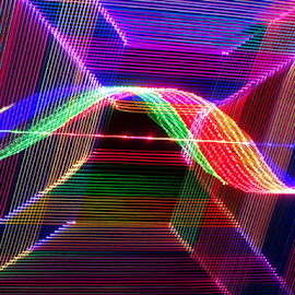 Encaged light ! by Jim Barton - Abstract Patterns ( laser light, colorful, light design, laser design, laser, laser light show, light, encaged light, science )