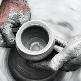 Pottery by Rajib Kumar Bhattacharya - Artistic Objects Cups, Plates & Utensils ( potter, pottery, pottery wheel )