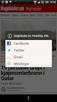 Screenshot of Dagbladet.no