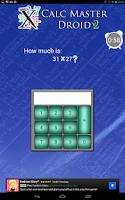 Screenshot of Mathematics: Calc Master Droid